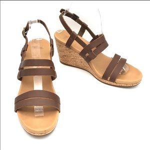 Teva | Arrabelle Leather & Cork Wedge Sandal Sz 10
